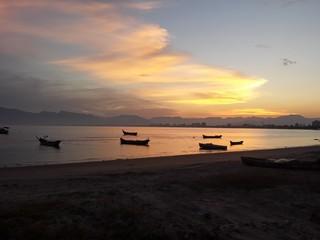 Praia / sossego / por do sol
