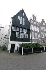 Wooden house in the begijnhof in Amsterdam