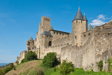 The Castle of Carcassonne, France