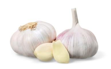 Garlic. Fresh garlic isolated on white background