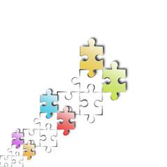 puzzle hintergrund bunt