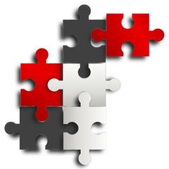 puzzle hintergrund rot schwarz weiß