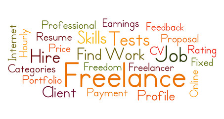 Freelance word cloud