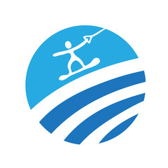 wakeboard, vector icon