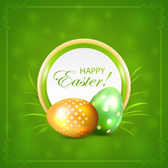 Easter card with eggs