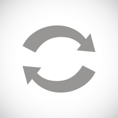 Synchronization black icon