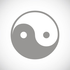 Yin Yang black icon