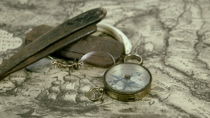 Few navigators things and a compass
