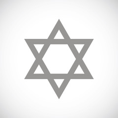Judaism black icon