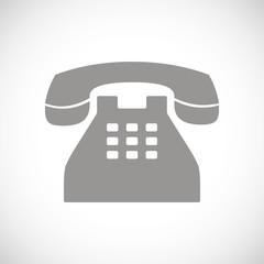 Telephone black icon