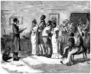 Black People : Wedding - Mariage - 19th century
