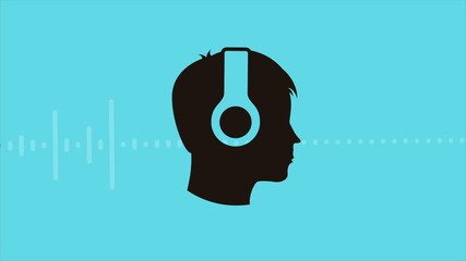 Person Listening to Music, Video animation, HD 1080
