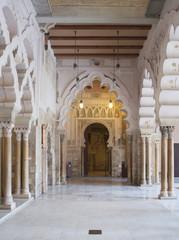 palace of aljaferia in spanish city zaragoza.