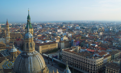 cityscape of spanish city zaragoza