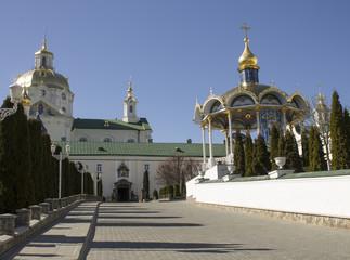 Orthodox Church and a gazebo for Saints