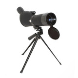 Birdwatching monocular or spotting scope on a tripod. poster