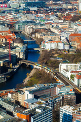 Berlin Skyline City Panorama. Berlin, Germany, Europe.