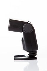 Photo camera flash isolated on white