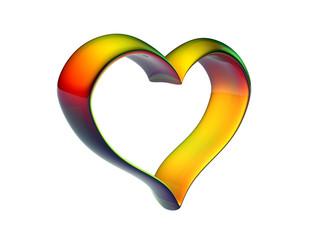 glass colorfull heart