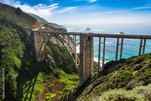 Fotobehang Brug Bixby Bridge, Big Sur - California