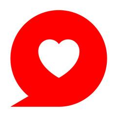Icono simbolo corazon en comentario