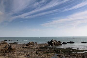 Calme des côtes bretonnes.