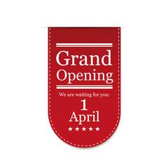 Banner Grand Opening. Vector