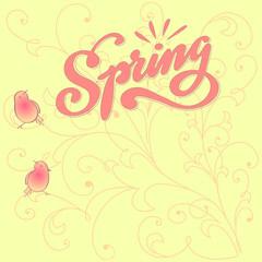 Floral Spring Vector Illustration