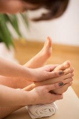 Pleasant foot massage