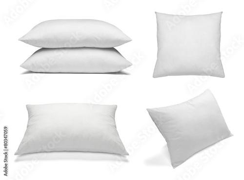 white pillow bedding sleep - 80347059