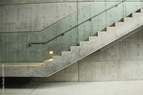 Leinwanddruck Bild Treppe aus Beton