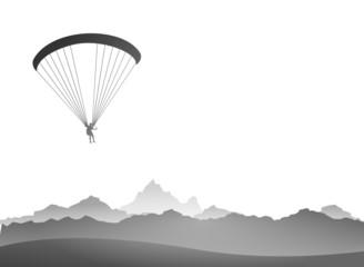 Paraglider Berge