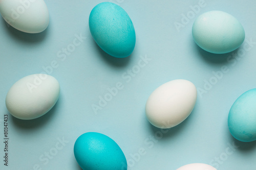 Dyed Easter eggs - 80347433
