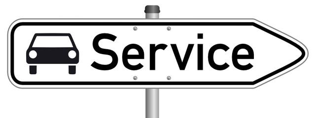 Service Schild  #150323-07