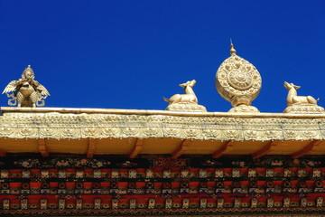 Roof of Takten Mingyur Phodrang-palace. Norbulingka-Lhasa. 1263