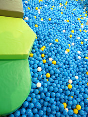 Blue plastic balls