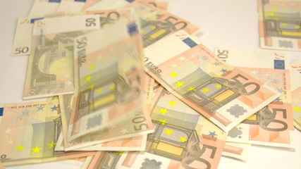 Lots of 50 Euro bills on the floor