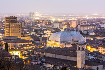 City Lights at Dusk, Brescia, Italy