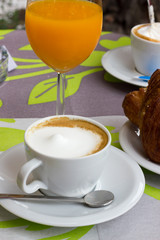 Cappuccino and pastries