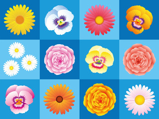 Flowers Background Pattern