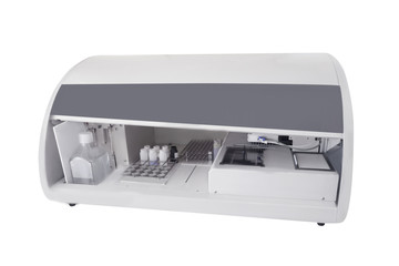 Biochemistry laboratory equipment closeup