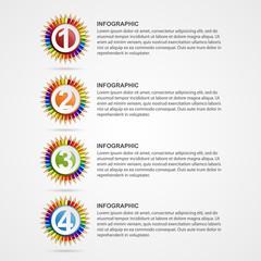 Creative education options infographics.