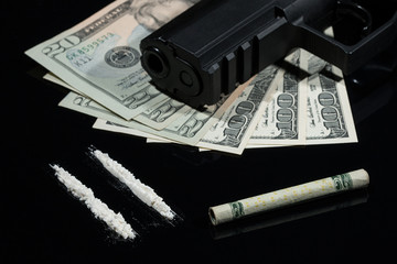 Illegal drugs , US dollars and guns