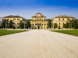 Perspective view of Ducal garden's palace, Parma, Italy
