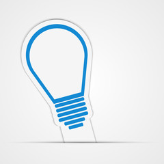 Light bulb vector sticker. Isolated illustration