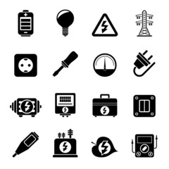 Silhouette Electricity, power and energy icons
