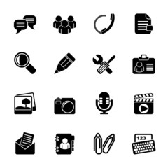 Silhouette Chat Application and communication Icons