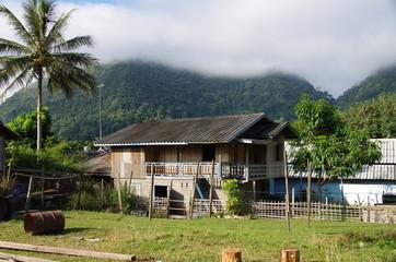 Village traditionnel au Laos