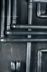 Metalic tubes wall texture