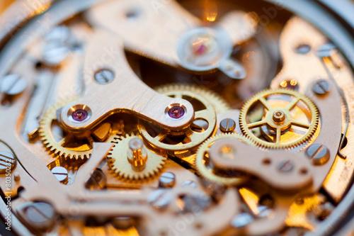 Leinwandbild Motiv Complex watch parts of vintage watch
